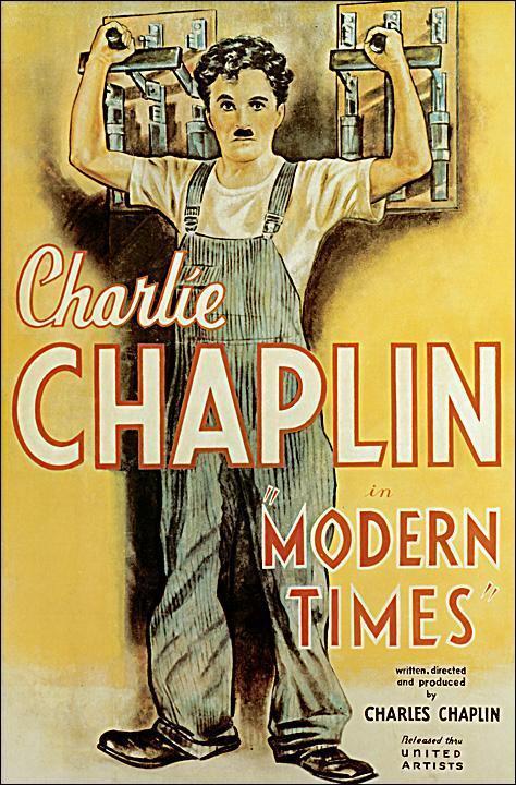 Cartell de Modern Times - Charles Chaplin