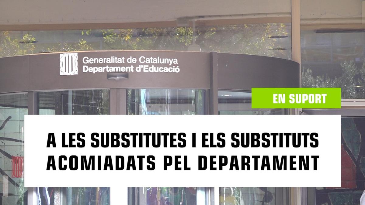 Concentració suport substitutes acomiadades