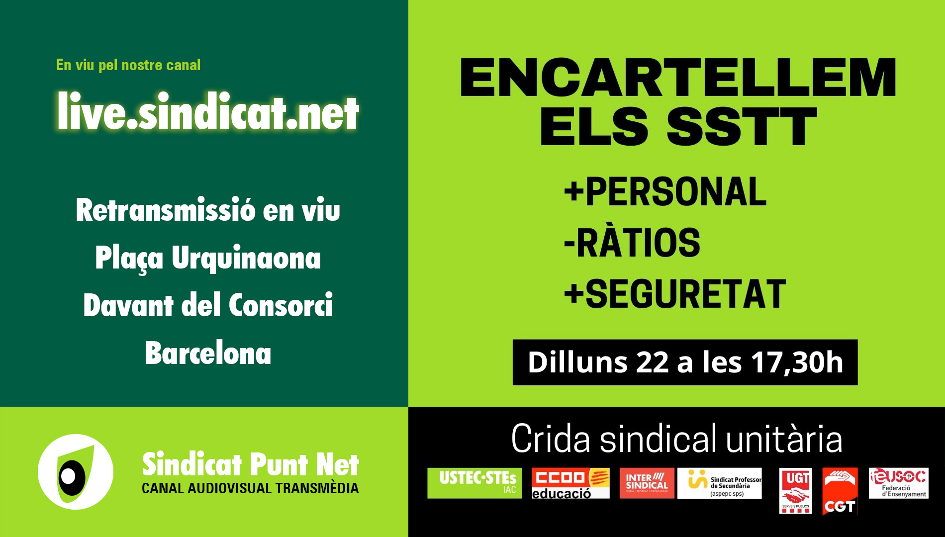 Encartellada! En viu des del Consorci d'Educació de Barcelona.